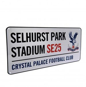 Crystal palace skilt metal